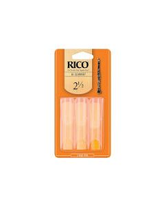 Rico Bb Clarinet Reeds, Box of 3 Strength 2.5
