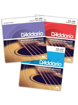 D'ADDARIO  - ACOUSTIC GUITAR STRINGS SET