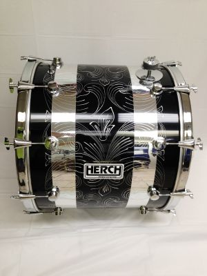 HERCH PERCUSSION TAMBORA - BLACK W/ 2 GOLD STRIPS