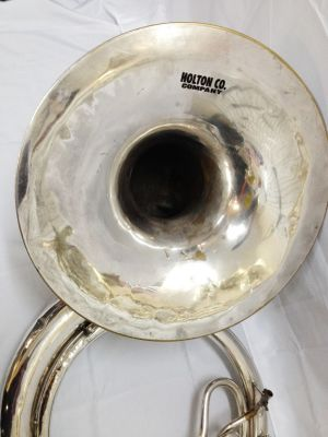 HOLTON CO. - KING SOUSAPHONE ( TUBA ) SILVER PLATED USED